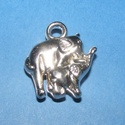 Felületkezelt műanyag medál (K46. minta/1 db) - elefántok, Vegyes alapanyag, Mindenmás,  Felületkezelt műanyag medál (K46. minta) - elefántok - ezüst színben  KIFUTÓ TERMÉK!  Mérete: 23x2..., Alkotók boltja