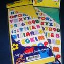 Öntapadós betűk (sárga), Vegyes alapanyag,      Öntapadós betűk - sárga Mérete: 25x10 cmVastagsága: 2 mmBetűk mérete: 15 mmAnyaga: deko..., Alkotók boltja
