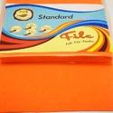 Dekorfilc (2 mm/puha) - neon narancssárga, Textil, Varrás,   Dekorfilc - puha - neon narancssárga  Mérete: 30x20 cmVastagsága: 2 mm  A filc anyag, könnyen vág..., Alkotók boltja