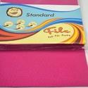 Dekorfilc (1,5 mm/kemény) - ciklámen, Textil,  Dekorfilc - kemény - ciklámen  Mérete: 30x20 cmVastagsága: 1,5 mm  A filc anyag, könnyen vágh..., Alkotók boltja