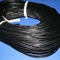 Hasított bőrszíj - 2 mm (5. minta/1 m) -  fekete , Vegyes alapanyag, Egyéb alapanyag, Bőrművesség,  Hasított bőrszíj (5. minta) - tekercses - fekete  Mérete: 2 mm átmérőjű Valódi hasított marhabőrb..., Alkotók boltja