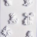 Karácsony-28 - gipszöntő forma (6 motívum) - karácsonyi figurák, Egyéb szerszám, eszköz, Gipszöntés,     Karácsony-28 - karácsonyi gipszöntő forma   6 karácsonyi figura: 4 féle hóember, fenyő, szarvas..., Alkotók boltja
