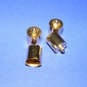 Bőrvég (434/A minta/1 db) - 14x10 mm, Gyöngy, ékszerkellék, Ékszerkészítés,  Bőrvég és szalagvég (434/A minta) - arany színben  Mérete: 14x10 mm Belső átmérő: 9 mm  Az ár egy ..., Alkotók boltja