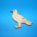 Fa alap (31. minta/1 db) - madár, Fa,  Fa alap (31. minta) - madár    Mérete: 7,5x4,5 cm Anyaga: natúr rétegelt lemezAnyagvastagság..., Alkotók boltja