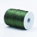 """Szatén zsinór - 2 mm (ZS38. minta/1 m) - sötétzöld, Gyöngy, ékszerkellék, Ékszerkészítés,  Szatén zsinór - más néven """"patkányfarok"""" (ZS38. minta) - sötétzöld  Kiválóan alkalmas fonási techn..., Alkotók boltja"""