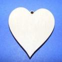 Fa alap (113/A minta/1 db) - akasztós szív, Fa,  Fa alap (113/A minta) - akasztós szív    Mérete: 3,5x4 cm   Az ár egy darab termékre vonatko..., Alkotók boltja
