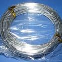 Alumínium drót-1 (2 mm/~ 10 m) - ezüst, Gyöngy, ékszerkellék, Drót, Ékszerkészítés, Fűzőszál,  Alumínium drót-1 - ezüstVastagsága: Ø 2 mmHossza: 10 mAz ár 1 csomagra vonatkozik.  , Alkotók boltja