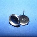 Nemesacél fülbevaló alap (STAS-40/B - 2 db), Gyöngy, ékszerkellék, Ékszerkészítés,  Nemesacél fülbevaló alap (STAS-40/B) - stiftes  A tüske mérete: 12/0,8 mmA tárcsa külső mérete: 10..., Alkotók boltja