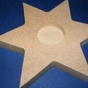 Fa mécsestartó (1 db) - csillag, Fa,  Fa mécsestartó - csillag  Mérete: 16,5x16,5x2 cmAnyaga: farostlemez    Az ár egy darab term..., Alkotók boltja