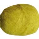 Festett gyapjú (50 g) - sárga, Textil,  Festett gyapjú - sárga  Kiszerelés: 50 g Többféle színben.Az ár 50 g termékre vonatkozik. , Alkotók boltja