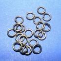 Szerelőkarika (1015. minta/20 db) - 4x0,7 mm, Gyöngy, ékszerkellék,  Szerelőkarika (1015. minta)  - szimpla - bronz színben  Mérete: 4x0,7 mm Az ár 20 db termékre..., Alkotók boltja