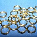 Szerelőkarika (1019/B minta/20 db) - 7x0,7 mm, Gyöngy, ékszerkellék,  Szerelőkarika (1019/B minta) - dupla - arany színben  Mérete: 7x0,7 mm  Az ár 20 db termékre v..., Alkotók boltja