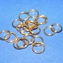 Szerelőkarika (1019/C minta/20 db) - 8x0,9 mm, Gyöngy, ékszerkellék,  Szerelőkarika (1019/C minta) - szimpla - arany színben  Mérete: 8x0,9 mm  Az ár 20 db termékre..., Alkotók boltja