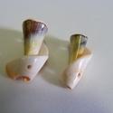 Fúrt kagyló/csiga (8. minta/2 db), Vegyes alapanyag, Mindenmás,  Fúrt kagyló/csiga (8. minta) - csigaház  Az ékszerkészítés dekoratív kiegészítője lehet a természe..., Alkotók boltja