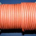 Hasított bőrszíj - 5 mm (8. minta/1 m) - terrakotta, Egyéb alapanyag,  Hasított bőrszíj (8. minta) - terrakottaMérete: 5 mm átmérőjűValódi hasított marhabőrbő..., Alkotók boltja
