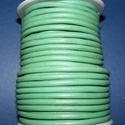 Hasított bőrszíj - 5 mm (17. minta/1 m) - középzöld (AKCIÓS), Vegyes alapanyag, Egyéb alapanyag, Alkotók boltja