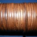 Lapos bőrszíj - 5x2 mm (2. minta/1 m) - antik sötétbarna, Egyéb alapanyag, Bőrművesség,  Lapos bőrszíj (2. minta) - tekercses - antik sötétbarna  Mérete: 5x2 mm átmérőjűValódi hasított ma..., Alkotók boltja