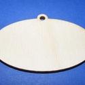 Fa alap (167. minta/1 db) - akasztós ovális (60x35 mm), Fa, Egyéb fa,  Fa alap (167. minta) - akasztós - ovális   Ékszer készítéshez vagy egyéb dekorációkhoz használhatj..., Alkotók boltja