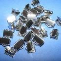 Nemesacél szalagvég (STAS-59/1 minta/1 db) - 8 mm, Gyöngy, ékszerkellék, Ékszerkészítés,  Nemesacél szalagvég (STAS-59/1 minta) - 8 mmNemesacél (304 Stainless Steel) termék  Mérete: 8x8,5x..., Alkotók boltja