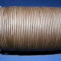 Hasított bőrszíj - 2 mm (19. minta/1 m) -  sötétbarna, Egyéb alapanyag, Bőrművesség,  Hasított bőrszíj (19. minta) - tekercses - sötétbarna  Mérete: 2 mm átmérőjű Valódi hasított marh..., Alkotók boltja