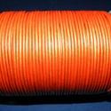 Hasított bőrszíj - 2 mm (16. minta/1 m) - narancssárga (metál), Vegyes alapanyag, Egyéb alapanyag, Bőrművesség,  Hasított bőrszíj (16. minta) - tekercses - narancssárga (metál)  Mérete: 2 mm átmérőjű Valódi has..., Alkotók boltja