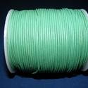 Hasított bőrszíj - 1,5 mm (13. minta/1 m) - zöld, Vegyes alapanyag, Egyéb alapanyag,  Hasított bőrszíj (13. minta) - zöld  Mérete: 1,5 mm átmérőjű  Valódi hasított marhabőrb..., Alkotók boltja