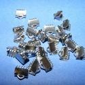 Nemesacél szalagvég (STAS-61 minta/1 db) - 6 mm, Gyöngy, ékszerkellék,  Nemesacél szalagvég (STAS-61 minta) - 6 mmNemesacél (304 Stainless Steel) termék  Mérete: 6x6,..., Alkotók boltja