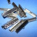 Nemesacél szalagvég (STAS-62 minta/1 db) - 25 mm, Gyöngy, ékszerkellék, Ékszerkészítés,  Nemesacél szalagvég (STAS-62 minta) - 25 mmNemesacél (304 Stainless Steel) termék  Mérete: 5,5x25x..., Alkotók boltja
