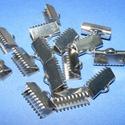 Nemesacél szalagvég (STAS-63 minta/1 db) - 15 mm, Gyöngy, ékszerkellék,  Nemesacél szalagvég (STAS-63 minta) - 15 mmNemesacél (304 Stainless Steel) termék  Mérete: 6x6..., Alkotók boltja