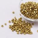 Szögletes gyöngy (37. minta/15 g) - metál arany, Gyöngy, ékszerkellék, Gyöngy,  Szögletes gyöngy (37. minta) - metál arany - matt   Kiszerelés: 15 g (kb. 160 db gyöngy)  A gyöngy..., Alkotók boltja