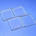 Üveglencse - 20x20 mm (929/A minta/1 db) - négyzet, Cabochon,  Üveglencse (929/A minta) - négyzet  Méret: 20x20x4 mm  Az ár egy darab lencsére vonatkozik.  ..., Alkotók boltja