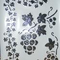 Sablon-12 (30x21 cm/1 db) - szőlő, Szerszámok, eszközök,  Sablon-12 - szőlő  Rugalmas, műanyag sablon festékhez és struktúrpasztához.Közvetlenül a h..., Alkotók boltja