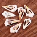 Fúrt kagyló/csiga (1. minta/2 db), Vegyes alapanyag, Mindenmás,  Fúrt kagyló/csiga (1. minta) - csiga szelet  Az ékszerkészítés dekoratív kiegészítője lehet a term..., Alkotók boltja