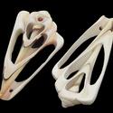 Fúrt kagyló/csiga (2. minta/2 db), Vegyes alapanyag, Mindenmás,  Fúrt kagyló/csiga (2. minta) - csiga szelet  Az ékszerkészítés dekoratív kiegészítője lehet a term..., Alkotók boltja