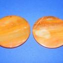 Fúrt kagyló ékszer alap (37. minta/2 db) - narancssárga, Gyöngy, ékszerkellék,  Fúrt kagyló ékszer alap (37. minta) - narancssárga - kerek  Az ékszerkészítés dekoratív ki..., Alkotók boltja