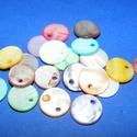 Fúrt kagyló ékszer alap (69. minta/20 db) - vegyes színek, Gyöngy, ékszerkellék,  Fúrt kagyló ékszer alap (69. minta) - vegyes színek - kerek  Az ékszerkészítés dekoratív k..., Alkotók boltja