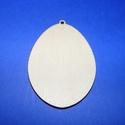 Fa alap (104/A minta/1 db) - mini tojás, Fa,  Fa alap (104/A minta) - mini tojás - dekoráció nélkül - akasztós      Mérete: 3,2x2,5 cm..., Alkotók boltja