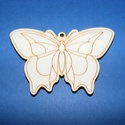 Fa alap (29. minta/1 db) - kicsi pillangó, Fa,  Fa alap (29. minta) - kicsi pillangó    Mérete: 3x2,5 cm Anyaga: natúr rétegelt lemezAnyagvas..., Alkotók boltja