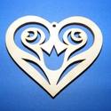 Fa alap (36. minta/1 db) - kicsi faragott szív, Fa, Egyéb fa,  Fa alap (36. minta) - kicsi faragott szív    Mérete: 3x2,5 cmAnyaga: natúr rétegelt lemezAnyagva..., Alkotók boltja