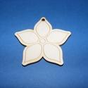 Fa alap (5. minta/1 db) - kicsi virág, Fa,  Fa alap (5. minta) - kicsi virág    Mérete: 3x3 cmAnyaga: natúr rétegelt lemezAnyagvastagság..., Alkotók boltja