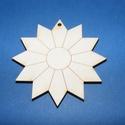 Fa alap (9. minta/1 db) - virág/nap, Fa,  Fa alap (9. minta) - virág/nap    Mérete: 6,5 cmAnyaga: natúr rétegelt lemezAnyagvastagság: ..., Alkotók boltja