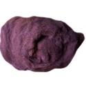 Festett gyapjú (5 g) - sötétlila, Textil,  Festett gyapjú - sötétlila  Kiszerelés: 5 g Többféle színben.Az ár 5 g termékre vonatkozik..., Alkotók boltja