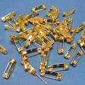 Kitűző alap (395/A minta/1 db) - 15 mm, Gyöngy, ékszerkellék, Ékszerkészítés,  Kitűző alap (395/A minta) - ragasztható, fűzhető, varrható - arany színben  Mérete: 154x5 mm  Az á..., Alkotók boltja