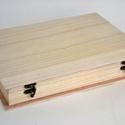 Fadoboz (35,5x25,5x6 cm) - nagy könyv alakú, Fa, Egyéb fa,  Fadoboz - nagy könyv alakú  Külső mérete: 35,5x25,5x6 cmBelső mérete: 32x23x5 cmAnyaga: natúr fa, ..., Alkotók boltja