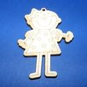 Fa alap (142. minta/1 db) - kislány, Fa,  Fa alap (142. minta) - kislány    Mérete: 7x5,3 cm Anyaga: natúr rétegelt lemezAnyagvastagsá..., Alkotók boltja