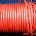 Hasított póráz bőrszíj - 5 mm (3. minta/1 m) - vöröses barna, Vegyes alapanyag, Egyéb alapanyag, Bőrművesség,  Hasított póráz bőrszíj (3. minta) - vöröses barnaMérete: 5 mm átmérőjűValódi hasított marhabőrből ..., Alkotók boltja