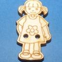 Fagomb (69. minta/1 db) - kislány, Fa,  Fagomb (69. minta) - kislány    Mérete: 3x2,5 cm Furat: 2 mmAnyaga: natúr rétegelt lemezAnyag..., Alkotók boltja
