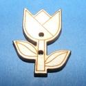Fagomb (80. minta/1 db) - tulipán, Fa,  Fagomb (80. minta) - tulipán    Mérete: 3x2,5 cm Furat: 2 mmAnyaga: natúr rétegelt lemezAnyag..., Alkotók boltja