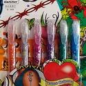 Slammer csillámos tetováló tollkészlet (6 szín + sablon), Festék, Festett tárgyak, festészet, Festékek,  Slammer csillámos tetováló tollkészlet - 6 színű (narancs, ezüst, rózsaszín, lila, kék, zöld)   ..., Alkotók boltja