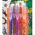 Slammer csillámos tetováló tollkészlet (3 szín + sablon) - narancs. pink, lila, Festék, Festett tárgyak, festészet, Festékek,  Slammer csillámos tetováló tollkészlet - 3 színű (narancssárga, pink, lila)    Színes egyéniség ..., Alkotók boltja